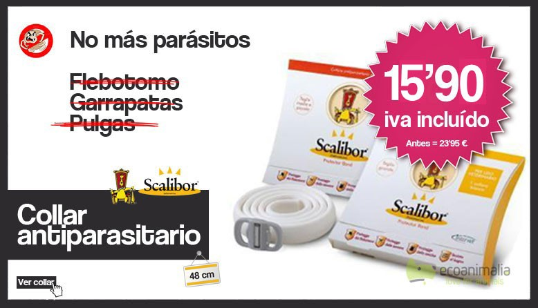 Collar antiparasitos scalibor en oferta